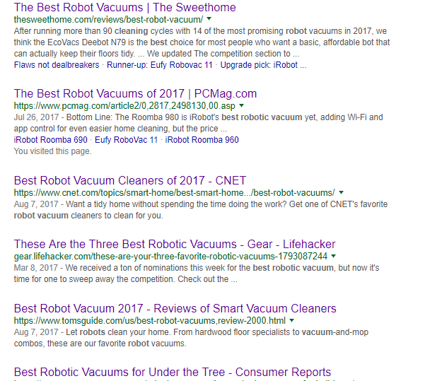 The Top 6 Product Review Sites List 12 Different Models As Best Robot Vacuum TWELVE See Chart Our Below